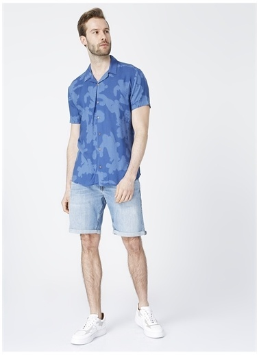 Aeropostale Aeropostale Apaş Yaka İndigo Erkek Gömlek İndigo